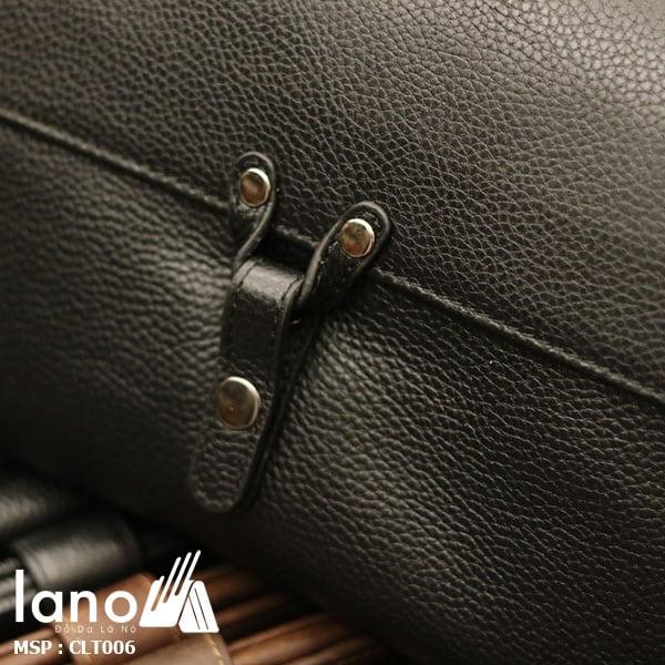 Túi cầm tay da bò thật Lano sang trọng lịch lãm CLT006 khóa trước