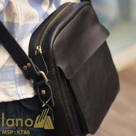 Túi da đeo chéo nam Lano cổ điển phong cách hiện đại KT86