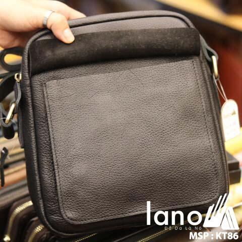 Túi da đeo chéo nam Lano cổ điển phong cách hiện đại KT86 - bên trong