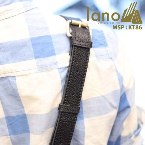 Túi da đeo chéo namTúi da đeo chéo nam Lano cổ điển phong cách hiện đại KT86 - dây đeo