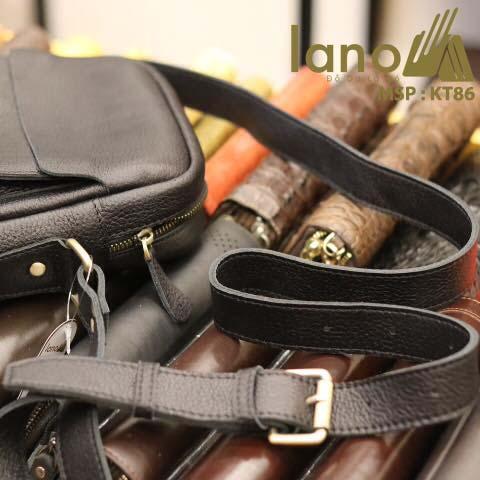 Túi da đeo chéo nam Lano cổ điển phong cách hiện đại KT86 - dây đeo