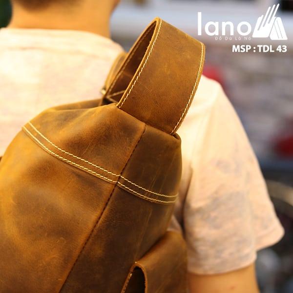 Túi da đeo chéo ngực nam Lano thời trang độc đáo TDL43