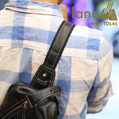 Túi da đeo trước ngực Lano thời trang phong cách mới 2018 TDL45 - đeo lưng