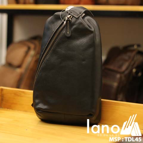 Túi da đeo trước ngực Lano thời trang phong cách mới 2018 TDL45