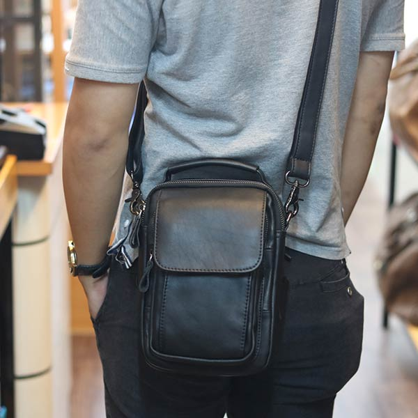 Túi da nam Lano đeo chéo mini loại nhỏ KT75