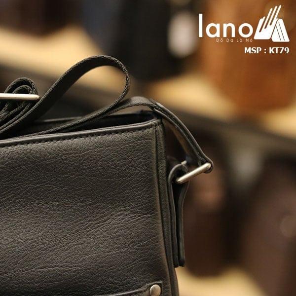 Túi da nam Lano đeo chéo thời trang da bò thật KT79