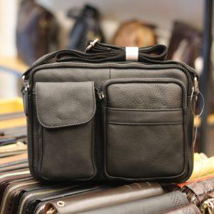 Túi đeo chéo nam công sở Lano da bò thời trang tiện lợi KT80