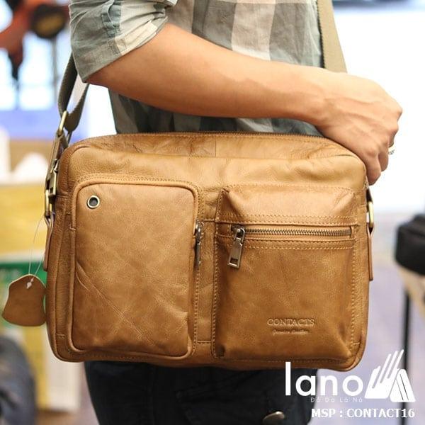 Túi đeo chéo nam công sở Lano thời trang đẳng cấp Contact16 - đeo vai
