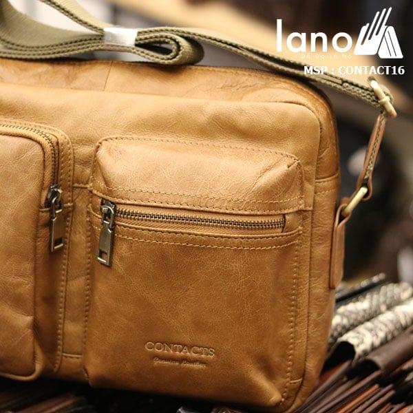 Túi đeo chéo nam công sở Lano thời trang đẳng cấp Contact16