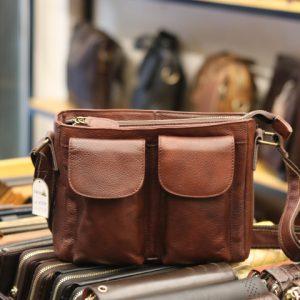 Túi đeo chéo nam da bò thật Lano tiện lợi phong cách bụi bặm mới 2018 KT84