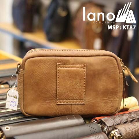 Túi đeo chéo nam Lano có đai thắt lưng mới lạ 2018 KT87 - mặt sau