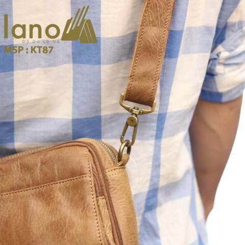 Túi đeo chéo nam Lano có đai thắt lưng mới lạ 2018 KT87 - đeo lưng