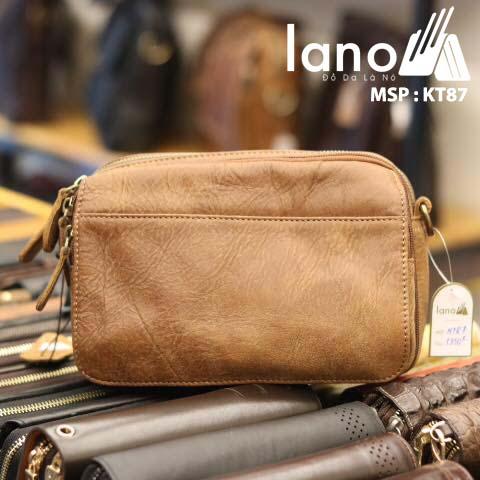Túi đeo chéo nam Lano có đai thắt lưng mới lạ 2018 KT87
