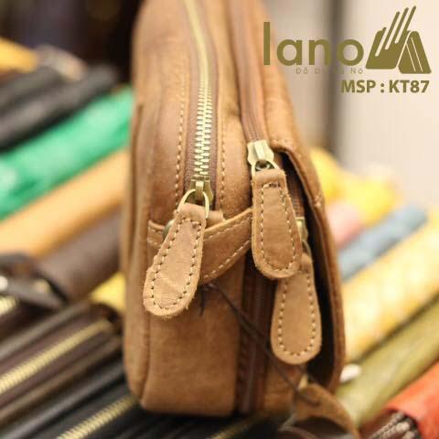Túi đeo chéo nam Lano có đai thắt lưng mới lạ 2018 KT87 - cạnh bên