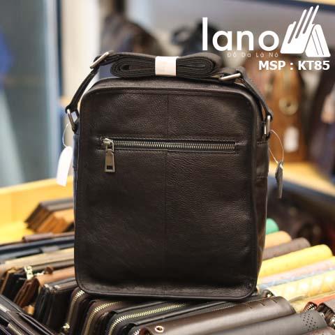 Túi đeo chéo nam Lano da bò sáp mới nhất 2018 KT85 - mặt sau