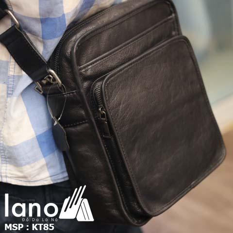 Túi đeo chéo nam Lano da bò sáp mới nhất 2018 KT85
