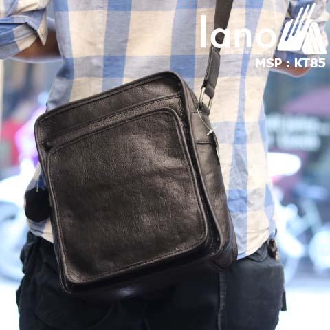 Túi đeo chéo nam Lano da bò sáp mới nhất 2018 KT85 - đeo lưng