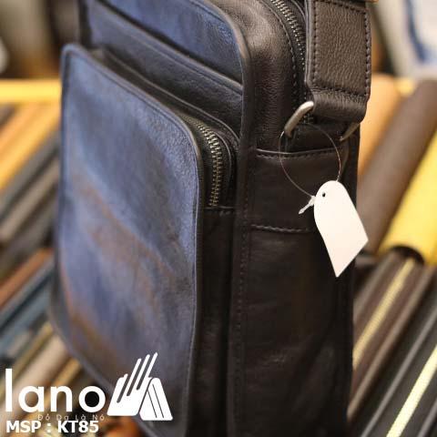 Túi đeo chéo nam Lano da bò sáp mới nhất 2018 KT85 - cạnh bên