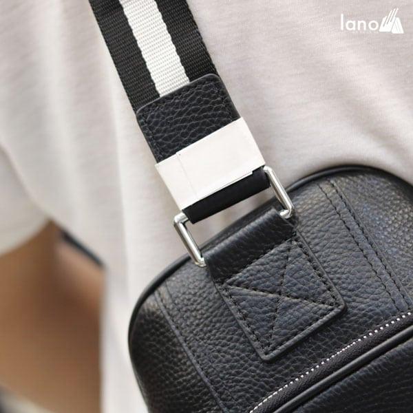 Túi da đeo chéo ngực nam Lano nhỏ gọn thời trang Hautton TDL41