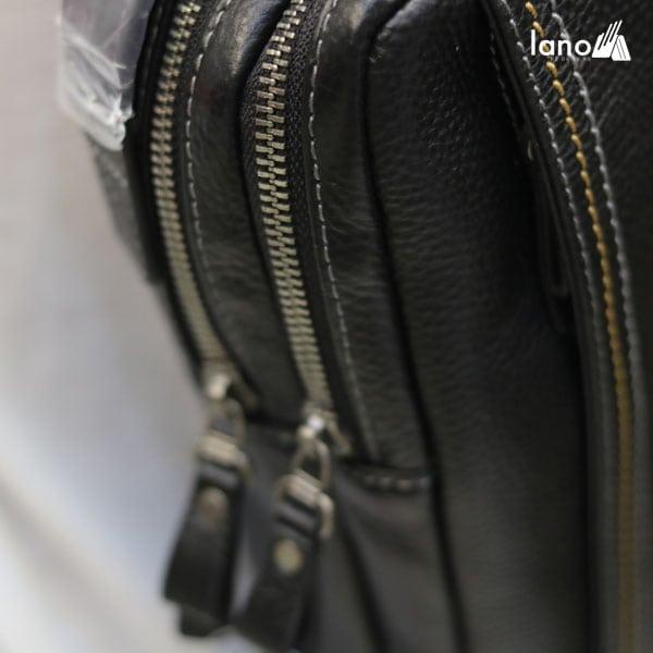 Túi da đeo chéo ngực nam thời trang trẻ trung Hautton TDL38 2 ngăn khóa kéo
