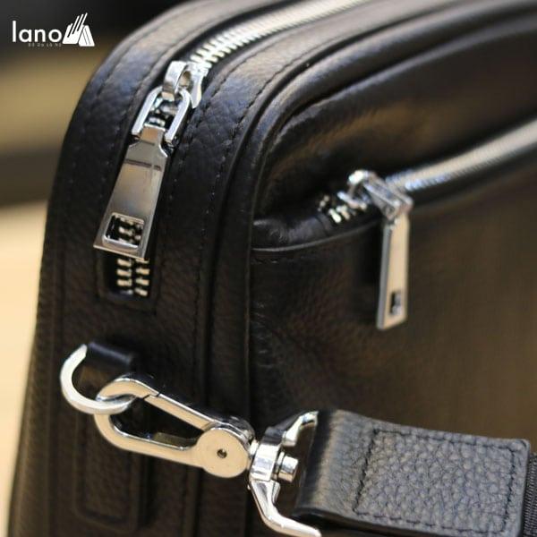 Túi đeo chéo nam Lano da bò trẻ trung năng động KT77 khóa túi