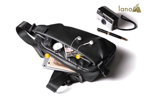 Túi đeo ngực thời trang cá tính Lano TDL40 bên trong