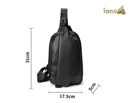 Túi đeo ngực thời trang cá tính Lano TDL40 kích thước