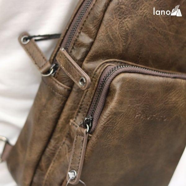 Túi đeo chéo ngực nam thời trang cao cấp giá rẻ TDL39 2 ngăn kéo
