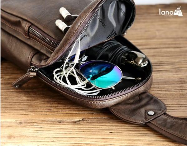 Túi đeo chéo ngực nam thời trang cao cấp giá rẻ TDL39 bên trong