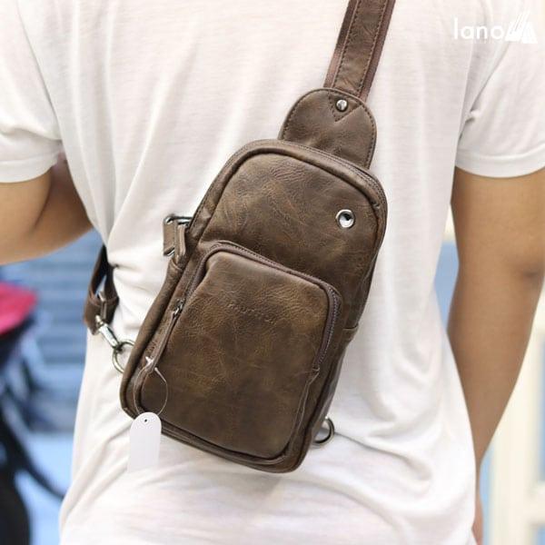 Túi đeo chéo ngực nam thời trang cao cấp giá rẻ TDL39 đeo chéo lưng
