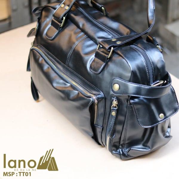 Túi trống du lịch thời trang Lano nam tính TT01 cạnh bên