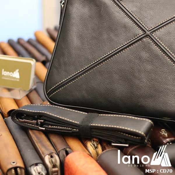 Cặp da nam công sở Lano đựng Macbook nhỏ gọn thời trang CD70 - dây đeo
