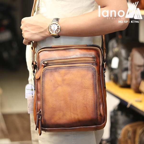 Túi da đeo chéo Lano dạng hộp đẳng cấp lịch lãm KT96 - đeo vai