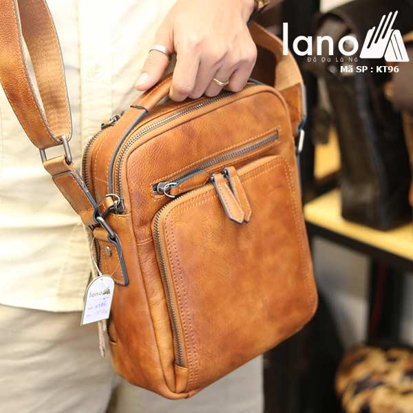 Túi da đeo chéo Lano dạng hộp đẳng cấp lịch lãm KT96 - xách tay