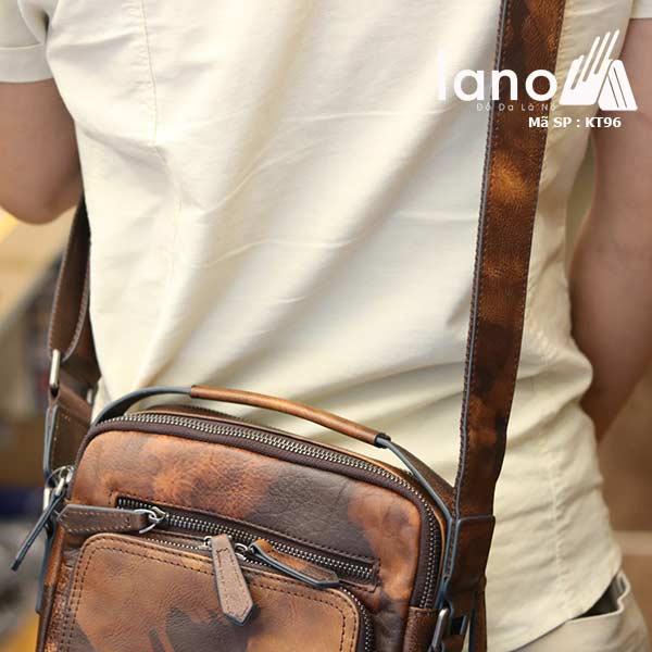 Túi da đeo chéo Lano dạng hộp đẳng cấp lịch lãm KT96 - đeo lưng