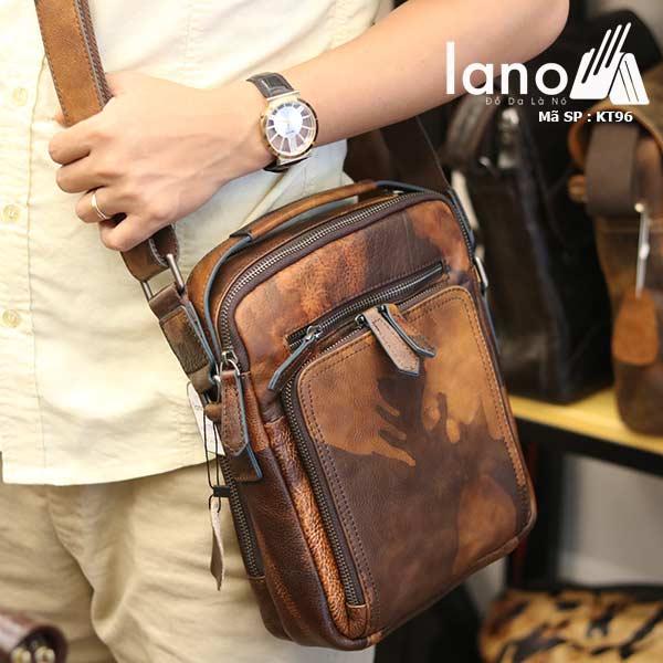 Túi da đeo chéo Lano dạng hộp đẳng cấp lịch lãm KT96 - đeo chéo