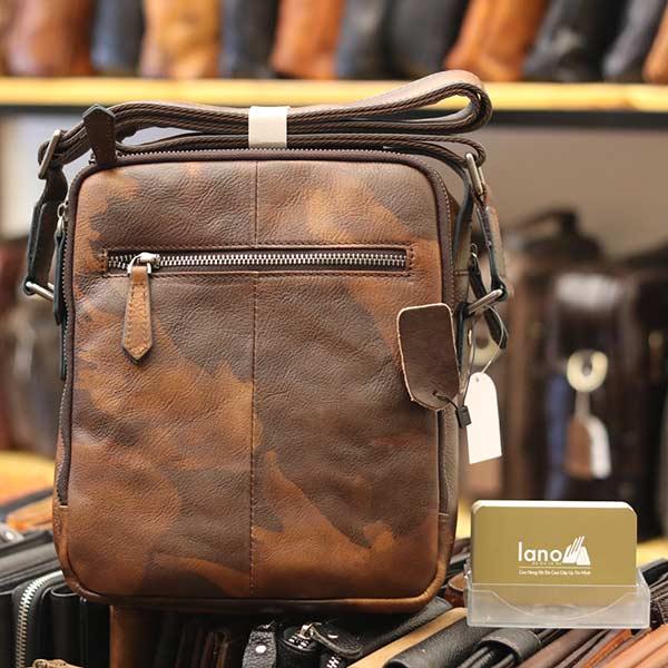 Túi da đeo chéo Lano dạng hộp đẳng cấp lịch lãm KT96 - mặt sau