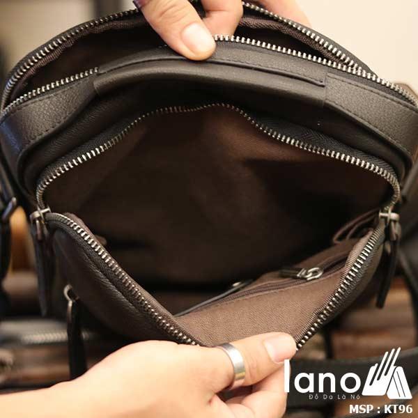 Túi da đeo chéo Lano dạng hộp đẳng cấp lịch lãm KT96 - bên trong