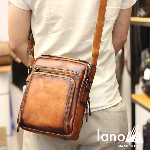 Túi da đeo chéo Lano dạng hộp đẳng cấp lịch lãm KT96 - đeo sau lưng