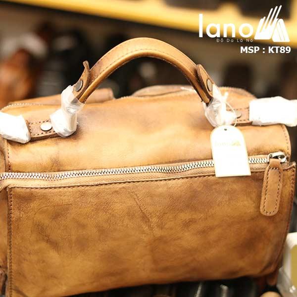 Túi da đeo chéo Lano gọn nhẹ tiện lợi KT89 - mặt sau