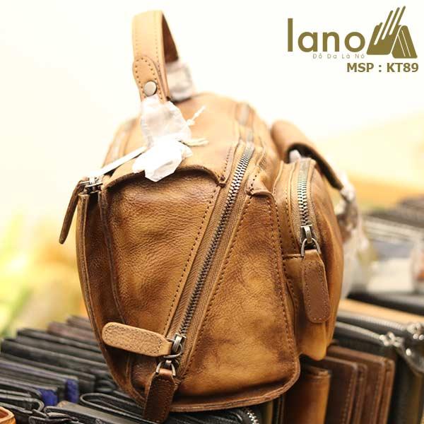 Túi da đeo chéo Lano gọn nhẹ tiện lợi KT89 - cạnh bên