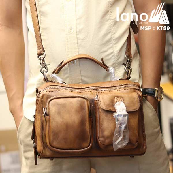 Túi da đeo chéo Lano gọn nhẹ tiện lợi KT89 - đeo chéo