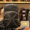 Túi da đeo chéo ngực nam Lano nhỏ gọn tiện lợi TDL48 đen