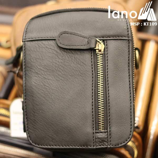 Túi da Lano đeo chéo nam giá rẻ KT109 đen