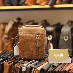Túi da Lano đeo chéo nam giá rẻ KT109 vàng bò