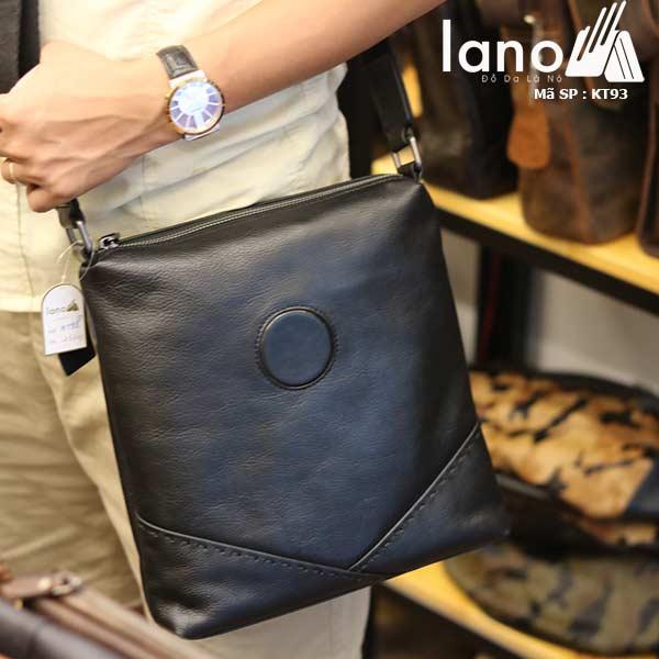 Túi da nam đeo chéo đựng iPad Lano thời trang công sở KT93 đen - đeo chéo