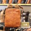 Túi da nam đeo chéo Lano gọn nhẹ sang trọng lịch lãm KT97 nâu vàng