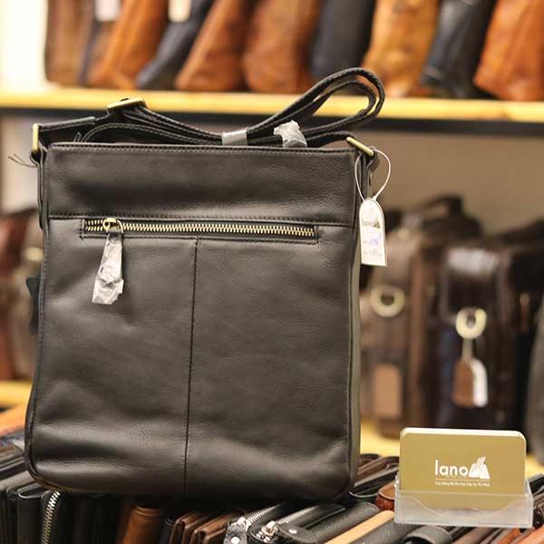 Túi da nam Lano đựng iPad mỏng gọn tiện lợi KT98 - mặt sau