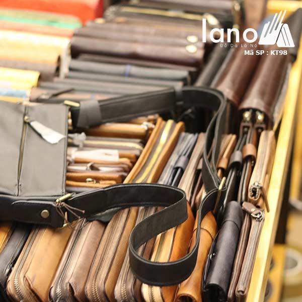 Túi da nam Lano đựng iPad mỏng gọn tiện lợi KT98