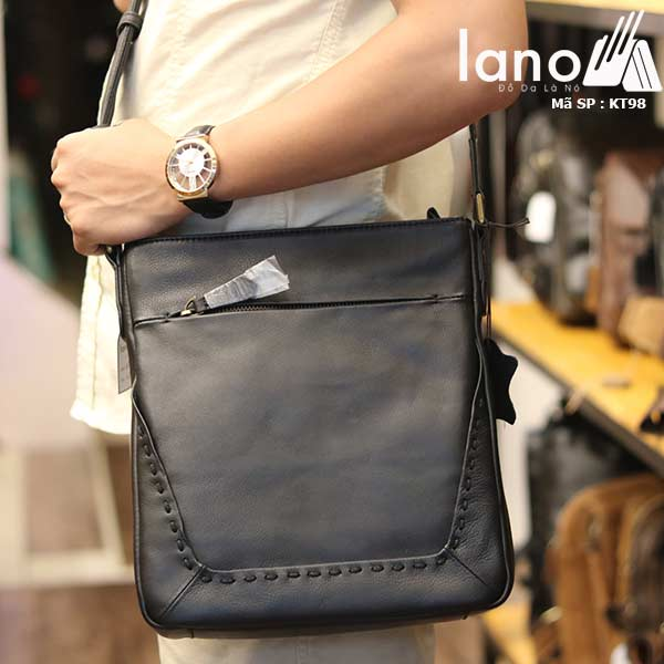 Túi da nam Lano đựng iPad mỏng gọn tiện lợi KT98 - đeo chéo